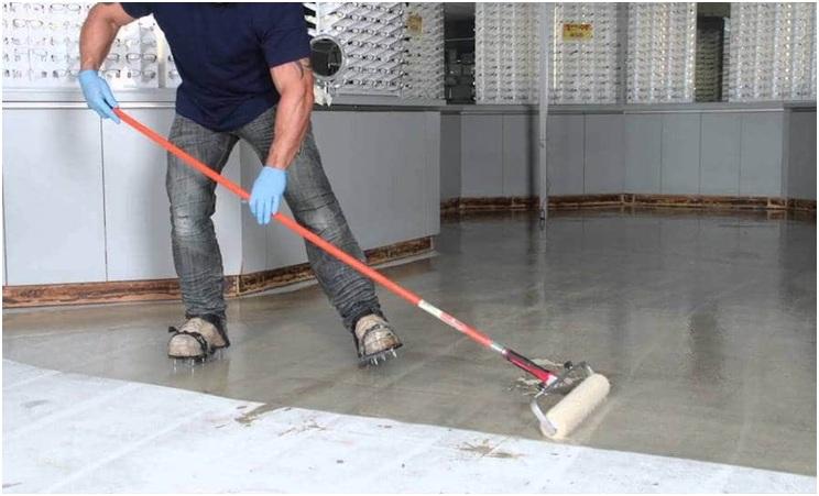 with garage floor coating